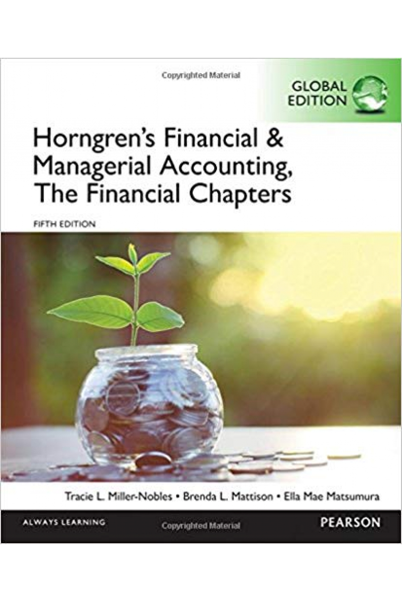 horngren's financial and managerial accounting the FINANCIAL 5TH