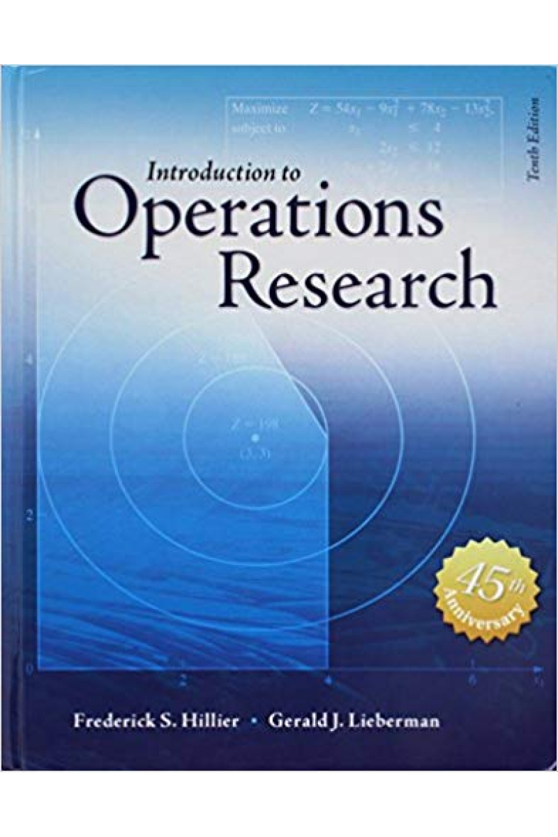 introduction to operations research 10th (hillier, lieberman)