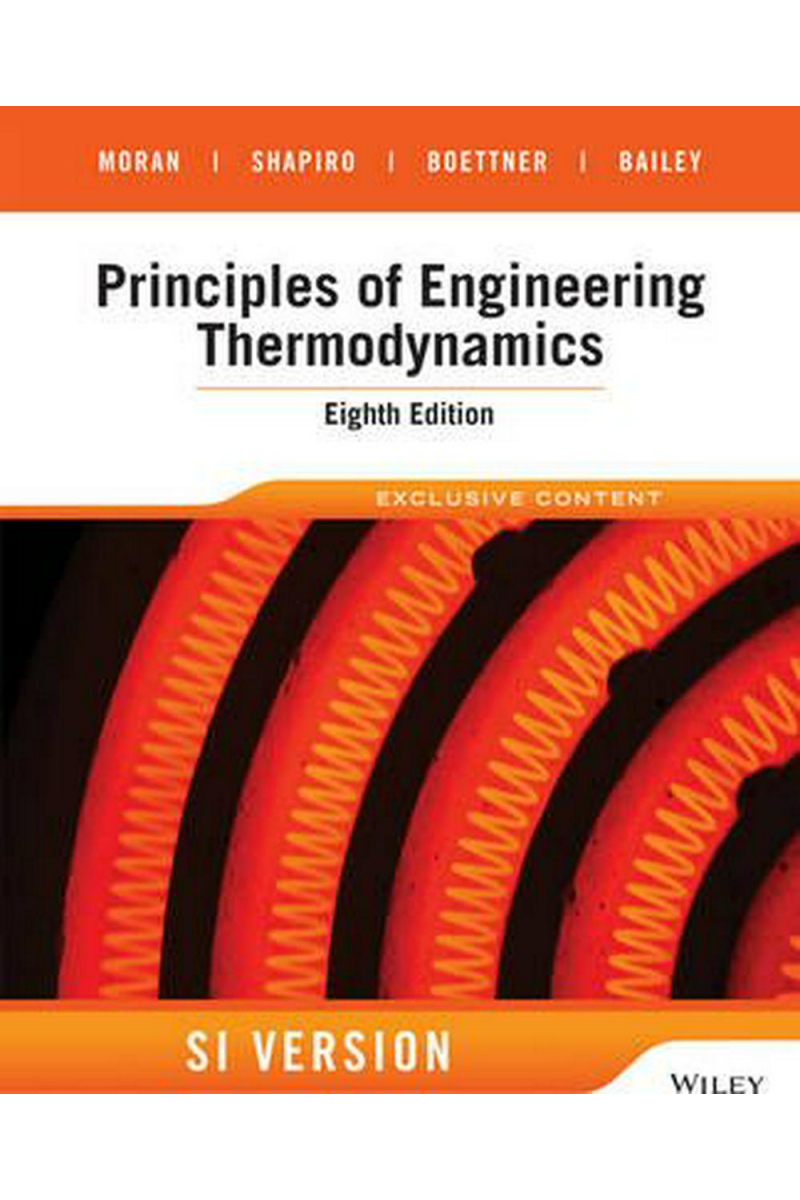 principles of engineering thermodynamics 8th SI (moran, shapiro)