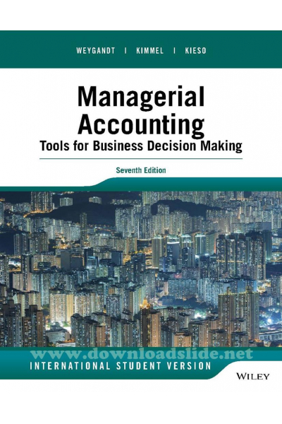 managerial accounting 7th (jerry j. Weygandt)