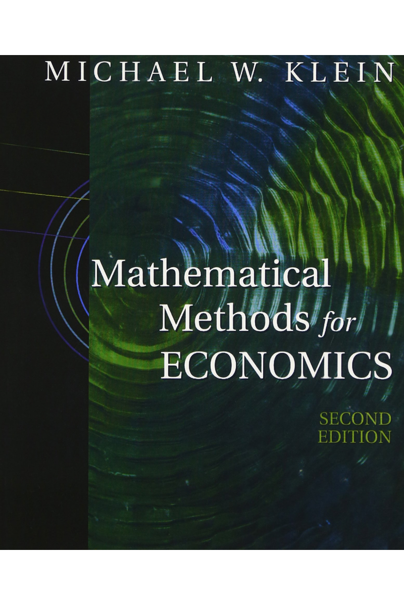 mathematical methods for economics 2nd (klein) New International Ed