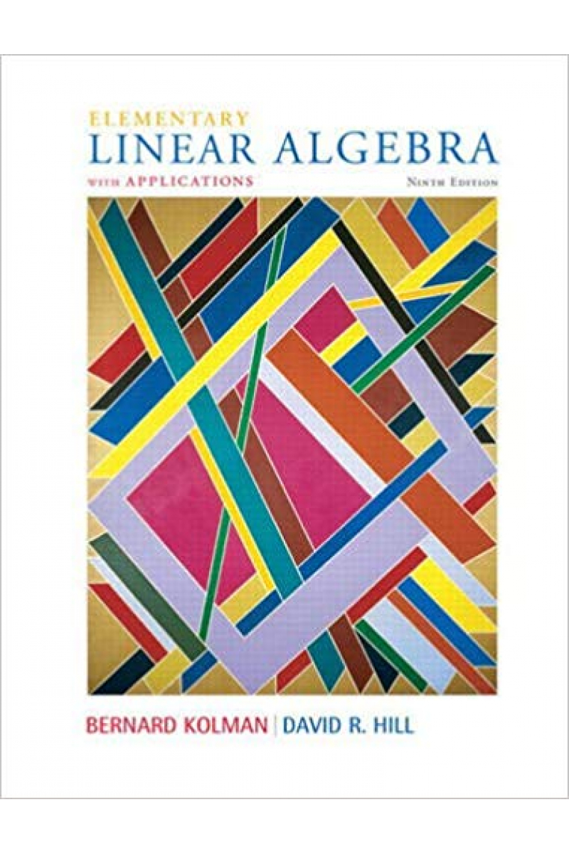 elementary linear algebra 9th (kolman, hill)