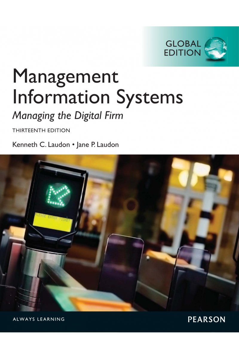 management information systems 13th (laudon, laudon)