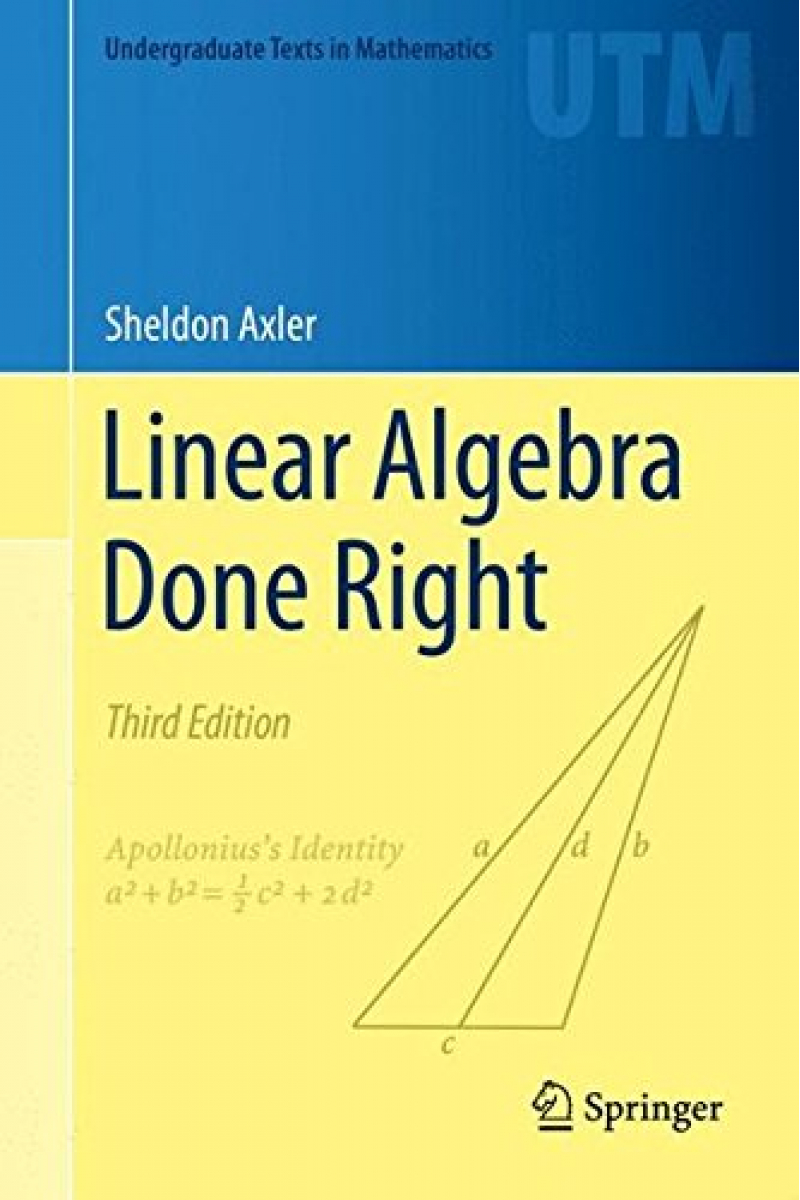 linear algebra done right 3rd (sheldon axler)