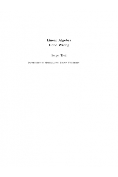 linear algebra done wrong (treil)