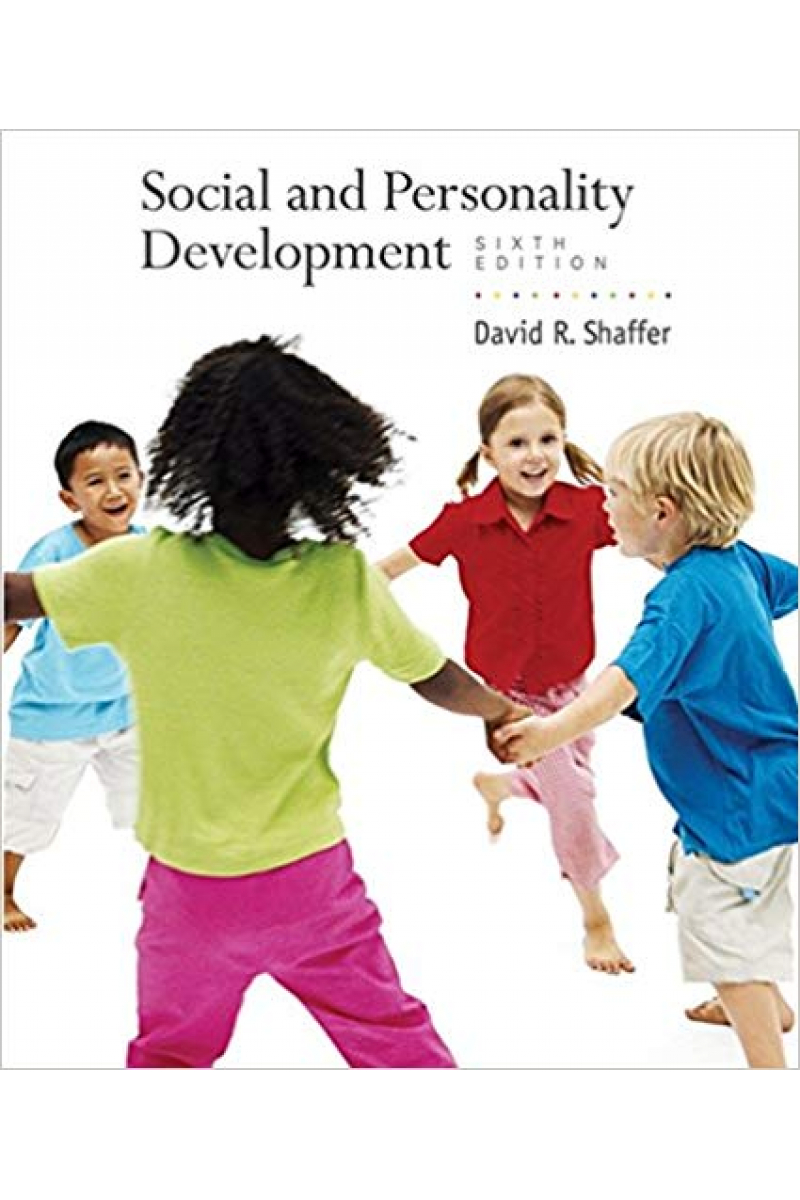 social and personality development 6th (david r. shaffer)