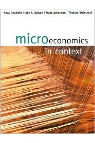 microeconomics in context (neva goodwin)