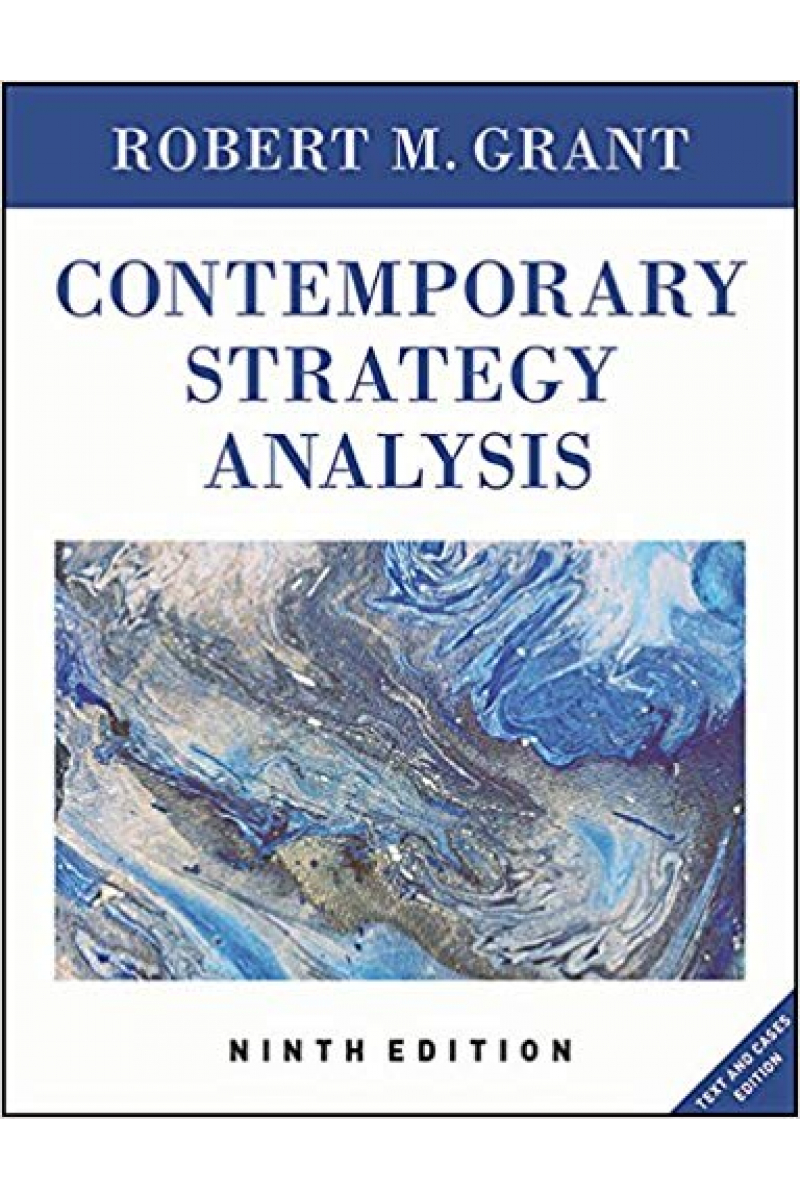 contemporary strategy analysis 9th (robert grant)