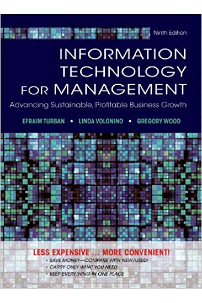 information technology for management 9th  (efraim turban