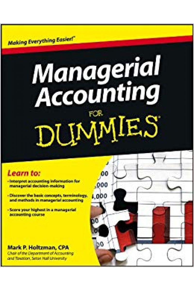 managerial accounting for dummies (mark holtzman)