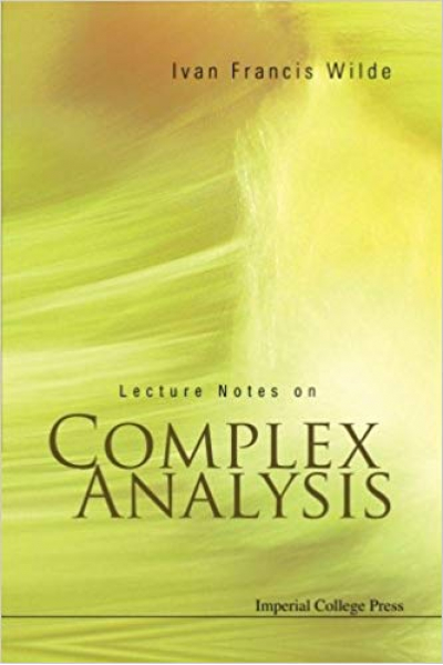 Lecture notes on complex analysis Wilde