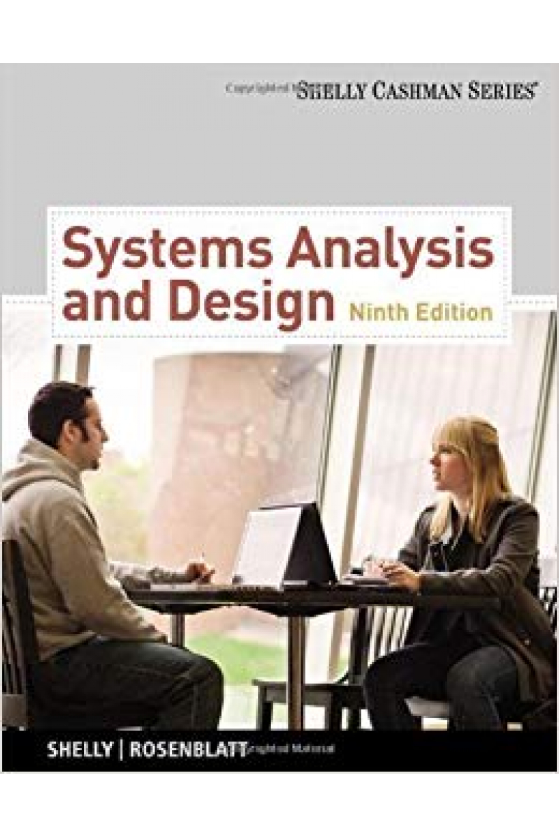 system analysis and design 9th (shelly, rosenblatt)