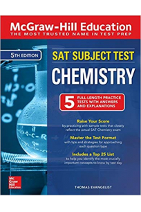SAT subject test chemistry 5th 2018 mcgrawhill