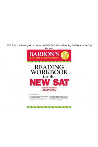 barron s reading workbook for the NEW SAT 2016