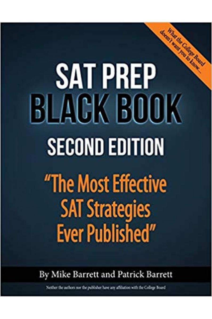 the SAT prep black book 2nd (barrett, barrett)