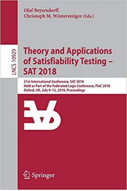 Bookstore theory and applications of satisfiability testing SAT 2018 (beyersdorff, wintersteiger)