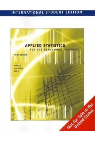 applied statistics (hinkle, wiersma, jurs)
