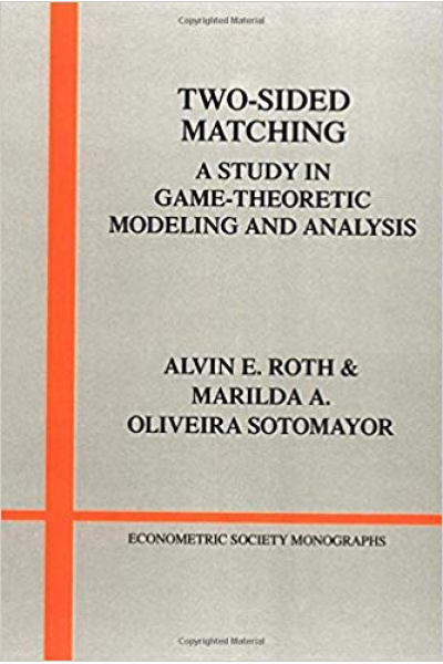 two sided matching theory (roth, alvin)