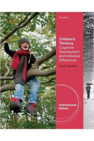 children's thinking cognitive development 5th (david bjorklund)