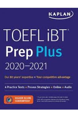 Book Store TOEFL iBT Prep Plus 2020-2021: 4 Practice Tests + Audio (Kaplan Test Prep)