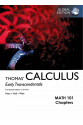 Thomas' Calculus: Early Transcendentals in SI Units 14th