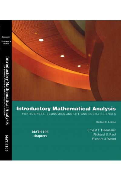 MATH 105 introductory mathematical analysis 13th (ernest f. haeussler) MATH 105