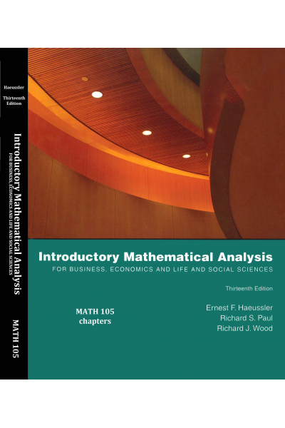 MATH 105 introductory mathematical analysis 13th (ernest f. haeussler) MATH 105