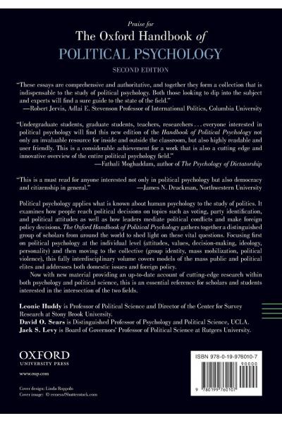 Political Psychology 2nd (Huddy, Sears, Levy)