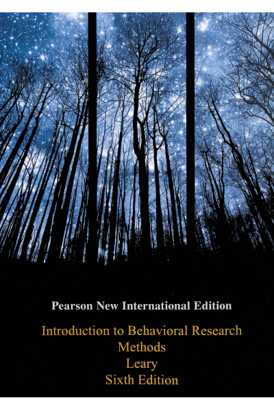 PSY 301 NEW introduction to Behavioral Research Methods 6th (Leary) PSY 301 NEW introduction to Behavioral Research Methods 6th (Leary)