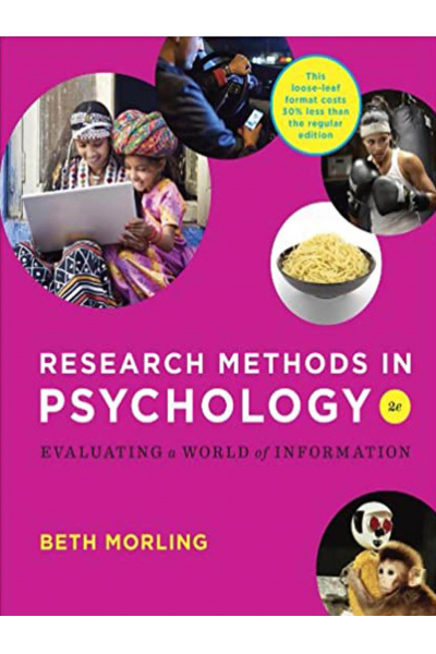 PSY 301 Research methods in psychology 2nd Beth morling PSY 301 Research methods in psychology 2nd Beth morling