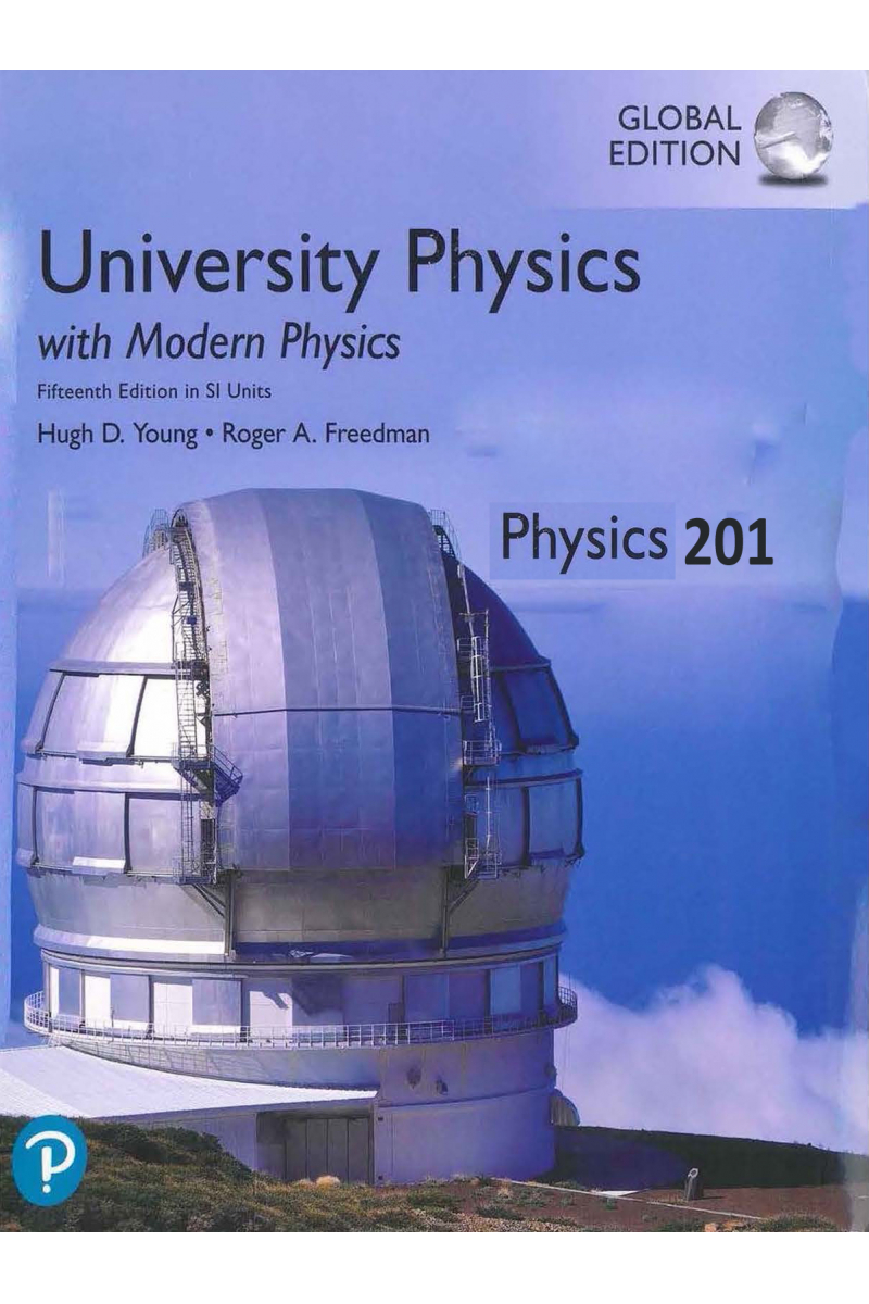 University Physics with Modern Physics 15th Physics 201