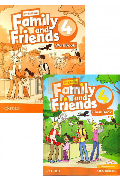 Family and Friends 4 Class Book + Workbook + 2 DVDs Family and Friends 4 Class Book + Workbook + 2 DVDs