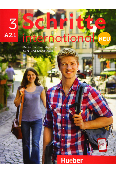 Schritte International 3 Neu A2.1 Kurs Und Arbeitsbuch + CD-ROM + AR Teknolojisi ile Kolay Öğrenme