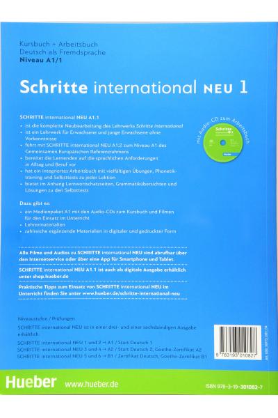 Schritte International 1 Neu A1.1 Kurs Und Arbeitsbuch + CD-ROM +  AR Teknolojisi ile Kolay Öğrenme