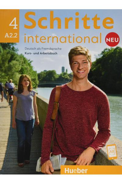 Schritte International Neu 4. A2.2 Kurs Und Arbeitsbuch + CD-ROM +  AR Teknolojisi ile Kolay Öğrenme