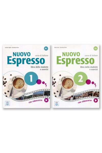 Nuovo Espresso 1&2: Libro dello studente e esercizi + 2 DVD-ROM Nuovo Espresso 1&2: Libro dello studente e esercizi + 2 DVD-ROM