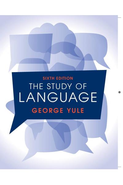 The Study of Language - George Yule (CD-ROM)