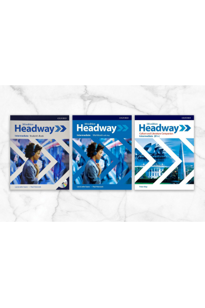 Headway Intermeadiate Student's Book + Workbook with key + CD + Culture and Literature Companion Headway Intermeadiate Student's Book + Workbook with key + CD + Culture and Literature Companion