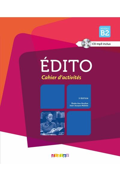 Edito niveau B2 livre + Cahier + DVD (Orjinal Renkli Basım)