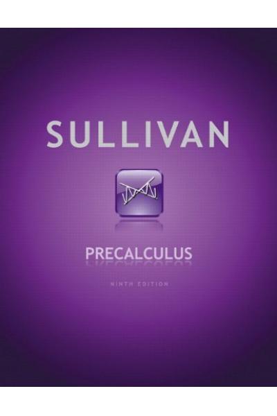 Precalculus 9th (Michael Sullivan) 2 CİLT Precalculus 9th (Michael Sullivan) 2 CİLT