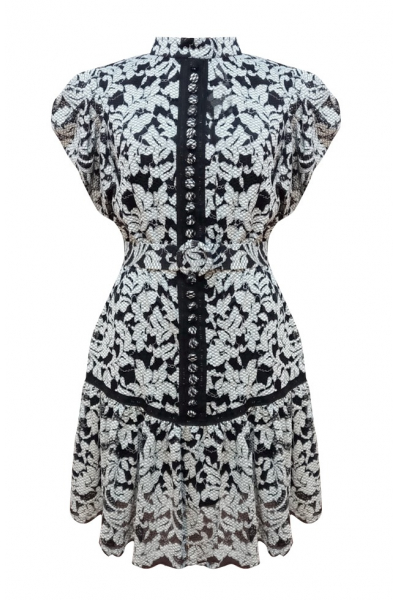Lace Dress - siyah/beyaz Lace Dress - siyah/beyaz