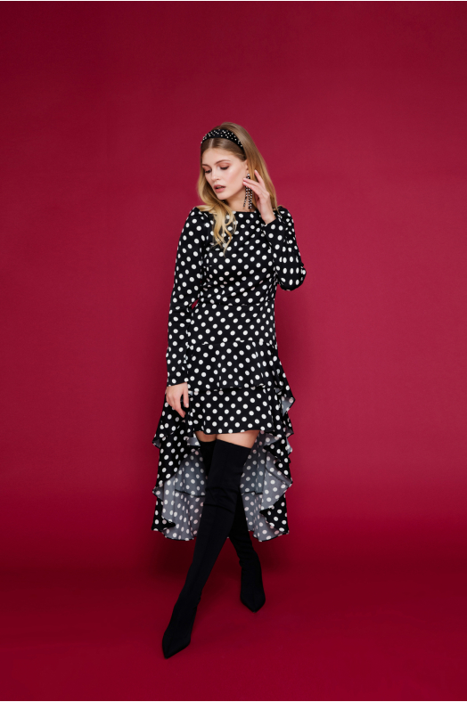 Iris Polka Dot Dress
