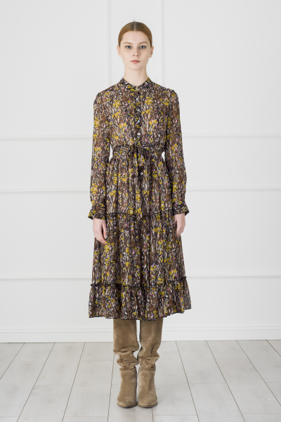 Ethnic Printed Dress (Yellow Detailed)