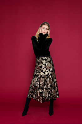 MERGIM Gold Detailed Skirt