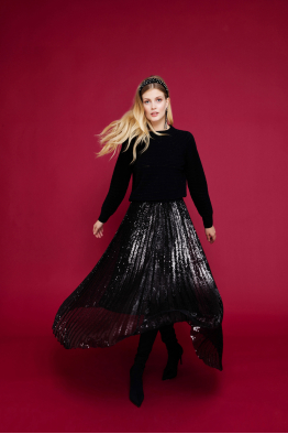 MERGIM Sequined Skirt