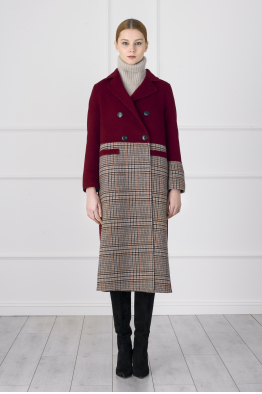 MERGIM Red Plaid Coat