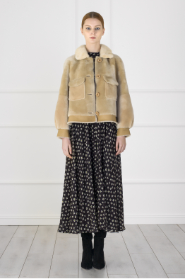 MERGIM Beige Fur Jacket