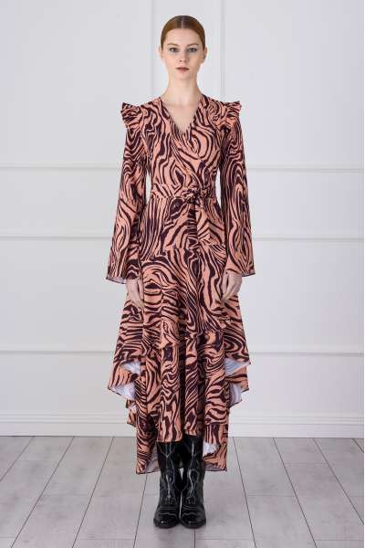 Gabrielle Dress (zebra pattern)
