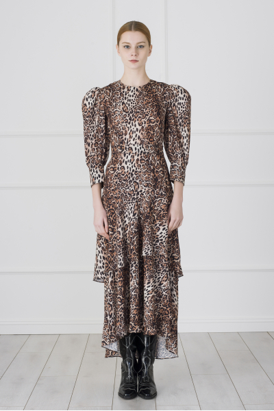 Alina Dress (Leopard Pattern)