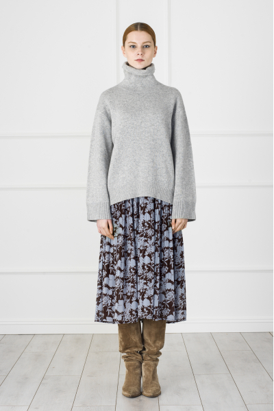 MERGIM Grey Cashmere Sweater